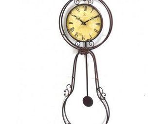 L'HERITIER DU TEMPS - pendule murale balancier vieillie 25cm - Horloge Murale