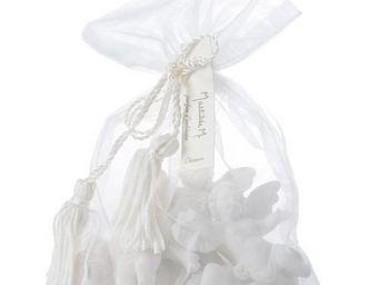 Mathilde M - ambiance parfumée - sac organza avec 5 angelots, p - Céramique Parfumée