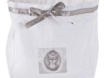 Mathilde M - grand panier jacquard - collection esprit lingerie - Panier De Salle De Bain