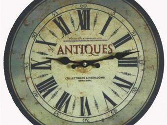 L'HERITIER DU TEMPS - pendule ambiance brocante ø34cm - Horloge Murale