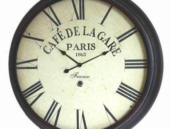 L'HERITIER DU TEMPS - horloge café de la gare ø93cm - Horloge Murale