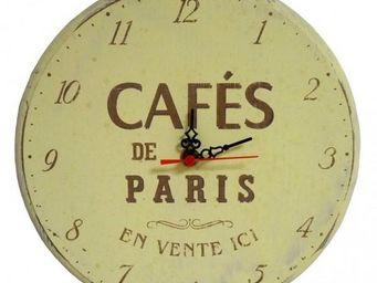 L'HERITIER DU TEMPS - horloge murale café de paris ø25cm - Horloge Murale