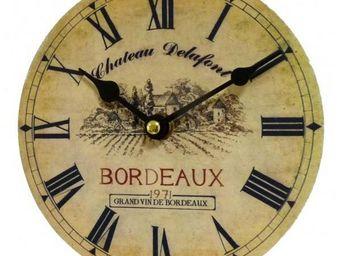 L'HERITIER DU TEMPS - mini pendule ch�teau delafont 16,5cm - Horloge Murale
