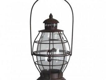 L'HERITIER DU TEMPS - lanterne en fer et verre sable - Lanterne D'extérieur