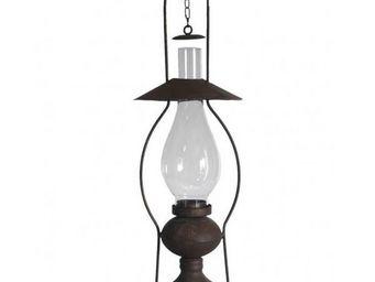 L'HERITIER DU TEMPS - lampe bougeoir en fer - Lanterne D'extérieur
