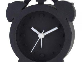 La Chaise Longue - réveil rétro silicone noir - Réveil Matin
