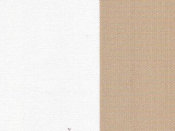 Le Quartier des Tissus - toile de bache rayee beige bain de soleil - Tissu D'extérieur