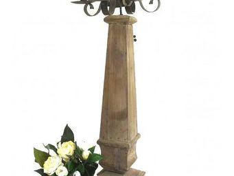 L'HERITIER DU TEMPS - bougeoir en bois et fer 5 bougies - Chandelier