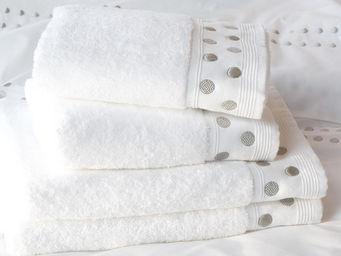 Essix home collection - serviette venezia blanc - Serviette De Toilette
