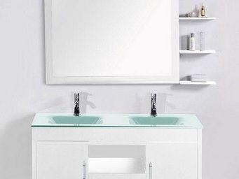 UsiRama.com - meuble salle de bain double vasques gerrier 1.2m - Meuble Double Vasque