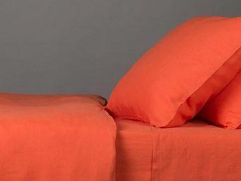 BLANC D'IVOIRE - julia mandarine - Parure De Lit