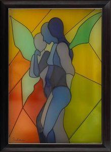 LIGHT MY ART - « anges » © par salma - Tableau Lumineux