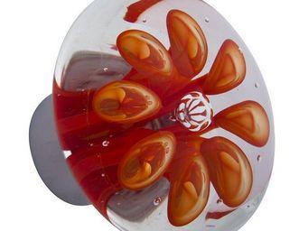 Les Verreries De Brehat - bulles de fleurs disque - Bouton De Porte