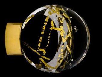 Les Verreries De Brehat - malo flash noir et or - Bouton De Porte