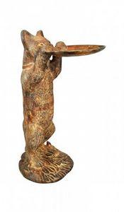 Demeure et Jardin - chat porte cartes en bronze - Sculpture Animalière