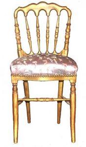 Demeure et Jardin - chaise de style napoléon iii rose - Chaise