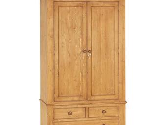 Interior's - armoire 2 portes 3 tiroirs - Armoire À Portes Battantes