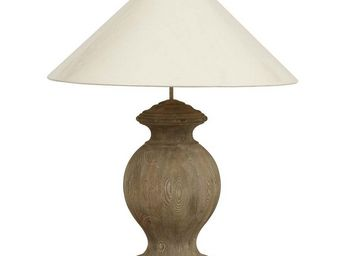 Interior's - pied de lampe charme bois - Lampe À Poser