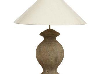 Interior's - pied de lampe charme bois - Lampe � Poser