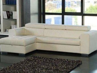 WHITE LABEL - canapé d'angle gauche samuel convertible lit gigo - Canapé Modulable