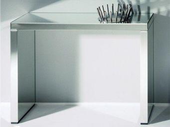 WHITE LABEL - keops table console en verre miroir grand modèle - Console
