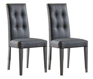 WHITE LABEL - lot de 2 chaises design italienne four seasons en  - Chaise