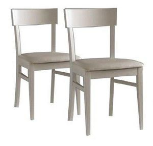WHITE LABEL - lot de 2 chaises new age sables - Chaise