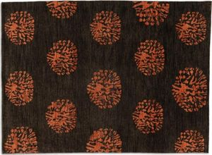 WHITE LABEL - basanti tapis laine marron 140x200 cm - Tapis Contemporain