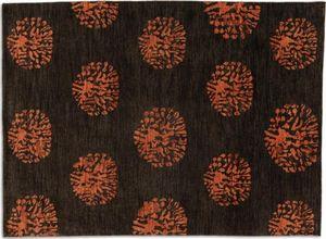 WHITE LABEL - basanti tapis laine marron 170x240 cm - Tapis Contemporain