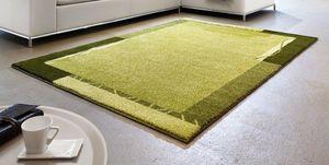 WHITE LABEL - samoa design tapis patchwork vert - 240x300 cm - Tapis Contemporain