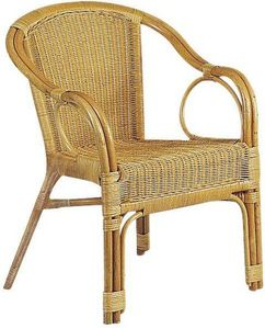 Aubry-Gaspard - fauteuil en moelle de rotin - Fauteuil De Jardin