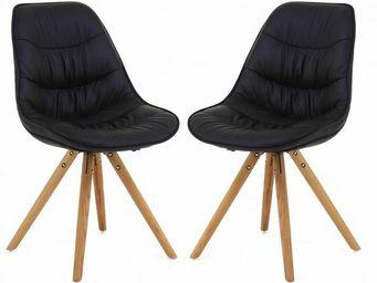 ID'CLIK - chaise repas design lotus (lot de 2) - Chaise