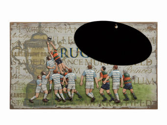 Interior's - enseigne rugby ardoise - D�coration Murale