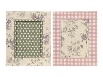 Interior's - cadre photo vichy et roses - Cadre Photo