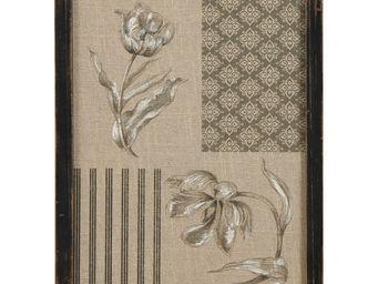 Interior's - cadre d�coratif tulipes clair obscur - Tableau D�coratif