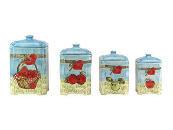 Interior's - coffret de 4 pots verger - Pot � �pices