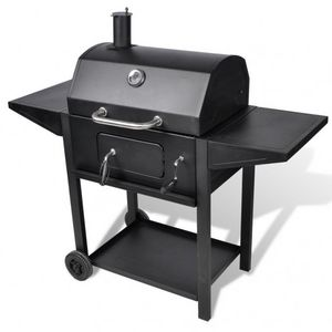 WHITE LABEL - barbecue charbon de bois smoker thermomètre - Barbecue Au Gaz