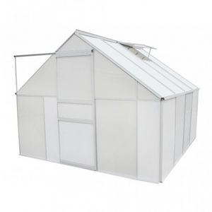 WHITE LABEL - serre de jardin polycarbonate 6.25 m2 - Serre