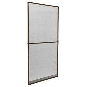 WHITE LABEL - moustiquaire pour porte cadre fixe en aluminium 95x210 cm blanc - Moustiquaire De Fenêtre