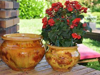 Les Poteries D'albi - jonc - Pot De Fleur