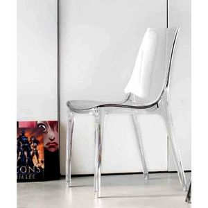 Mathi Design - chaise transparente lypo - Chaise