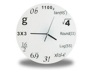 WHITE LABEL - horloge horaire avec symbole scientifiques deco ma - Horloge Murale
