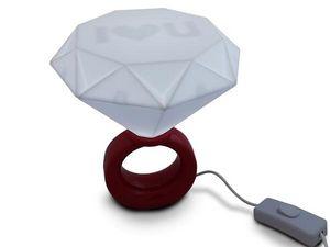 WHITE LABEL - lampe exceptionnelle à la forme d'une bague led a - Lampe À Poser