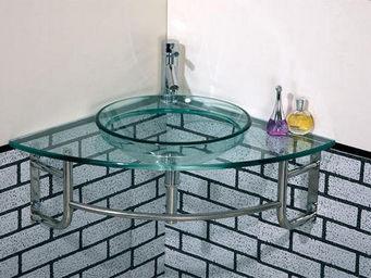 UsiRama.com - meuble d`angle lave mains angle-lave - Meuble De Salle De Bains