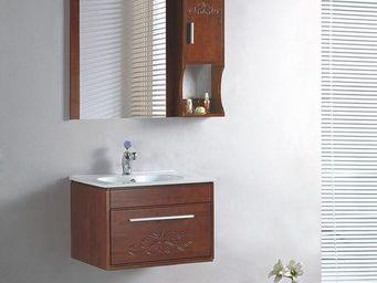 UsiRama.com - meuble salle de bain bois massif tresor 61cm - Meuble Vasque