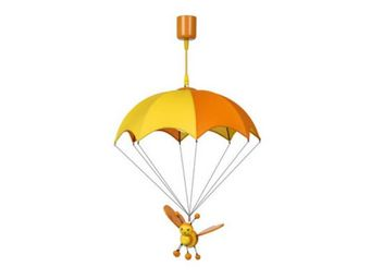 LUCIDE - suspension enfant en bois bee - Lampe À Poser Enfant