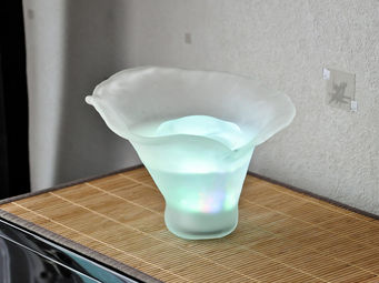 ZEN AROME - brumisateur ambiance aruma en verre 23x23x19cm - Diffuseur De Parfum Électrique
