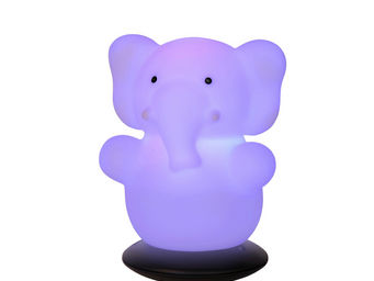 LUCIDE - elephant - veilleuse led h12,6 cm   guirlande et o - Veilleuse Enfant