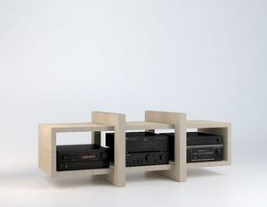 MALHERBE EDITION - meuble hifi low - Meuble Tv Hi Fi