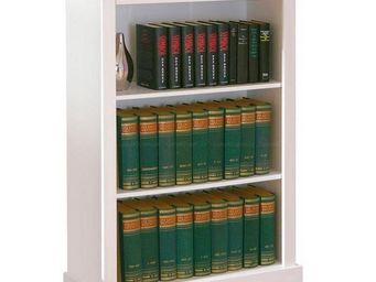 WHITE LABEL - etagere bibliotheque provence blanche 2 tablettes  - Boite De Rangement